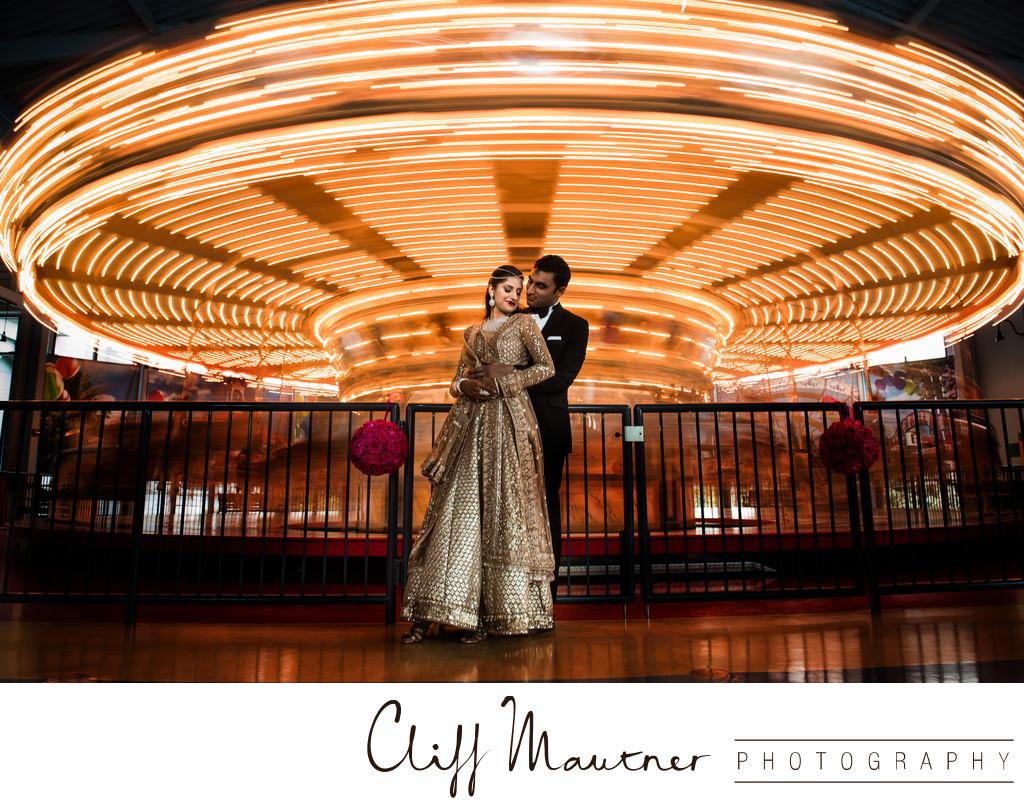 Please Touch Museum Carousel  Philadelphia Wedding