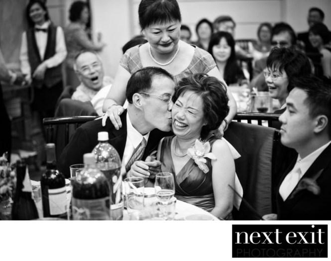 Newlyweds Dancing At A Wedding Reception