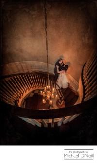 Royalton Mansion Spiral Staircase Wedding Photo LI ...