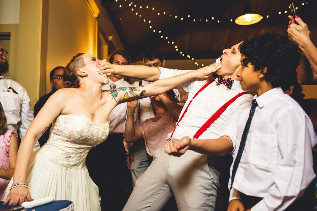 Cake Fight Bride  Groom  The Original Tattooed Bride