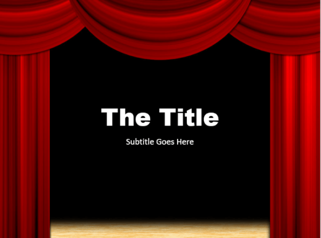 Theater PowerPoint template