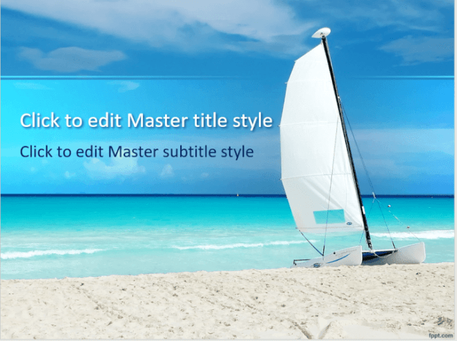 Sailboat PowerPoint template