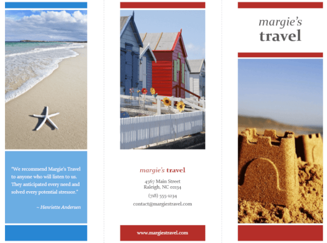 Travel brochure PowerPoint template