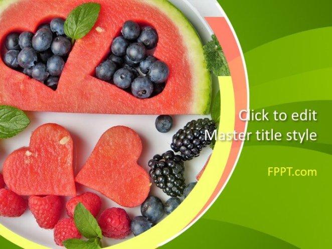 Fresh fruit PowerPoint template