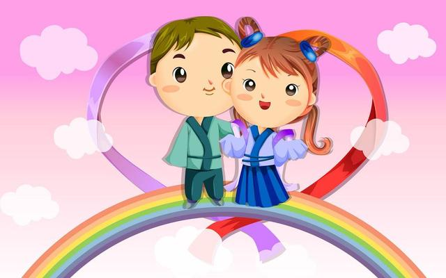 Cute Couples Cartoons Wallpapers เอา วอลเปเปอร์ วาเลนไทน์ น่ารักๆมาฝาก Baipak Gotoknow