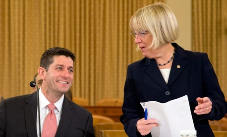 House Budget Committee Chairman Paul Ryan and Senate Budget Committee Chairwoman Patty Murray
