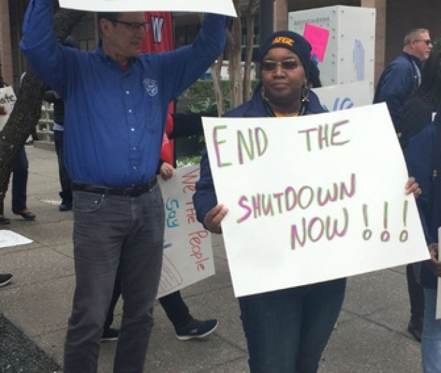 Union Members Rally In Dallas Earlier This Month To End The Shutdown