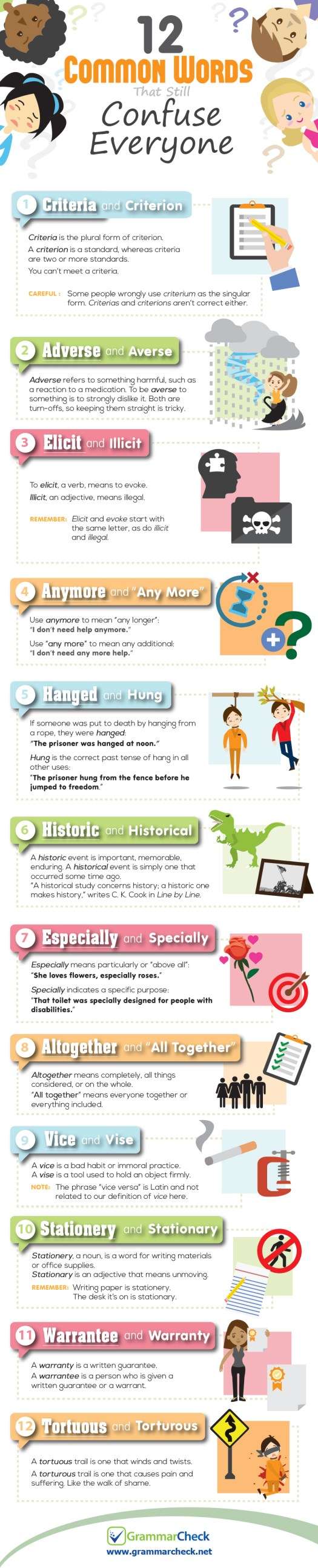 12 Common Words That Still Confuse Everyone (Infographic)