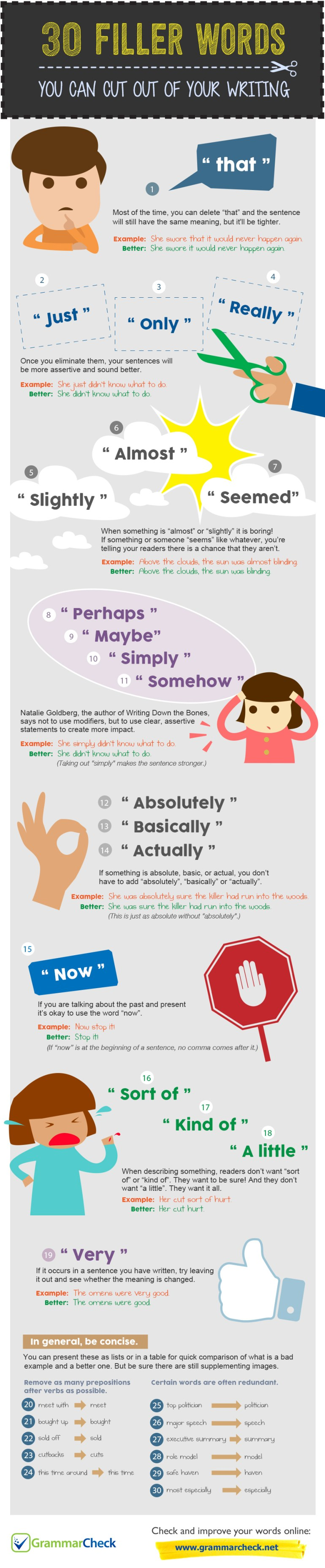 30 Filler Words You Can Cut Out of Your Writing (Infographic)