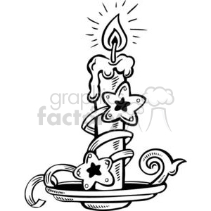 Royalty-Free Christmas candle decorated 381115 vector clip