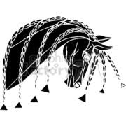 royalty-free braided horse hair