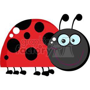 flying ladybug clipart black
