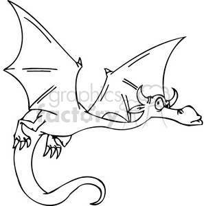funny cartoon dragons 029 386006 vector clip art image