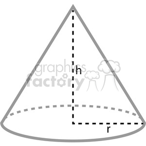 Royalty-Free geometry cone school math worksheet clip art