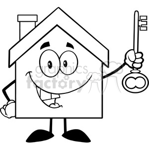 Royalty-Free 6483 Royalty Free Clip Art Black and White