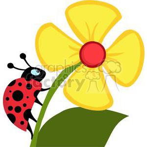 ladybug flower clip art cliparts
