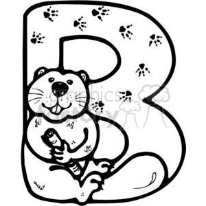 Royalty-Free Letter B Beaver 380246 vector clip art image