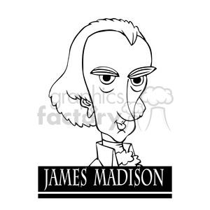 Royalty-Free james madison black white 392968 vector clip