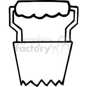 black and white outline of a gardening tool 379820 vector