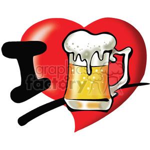 Download Royalty-Free I love beer 389776 vector clip art image ...