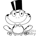 Royalty-Free Cartoon-Frog-Mascot-Character-Waving-A