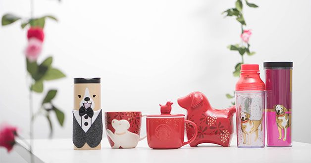 Starbucks welcome the year of the dog with new festive merchandise and traditional snacks
