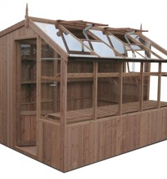 swallow rook thermowood greenhouse 8ft8 wide 2660mm x 12ft7 long 3840mm  [ 1800 x 1531 Pixel ]