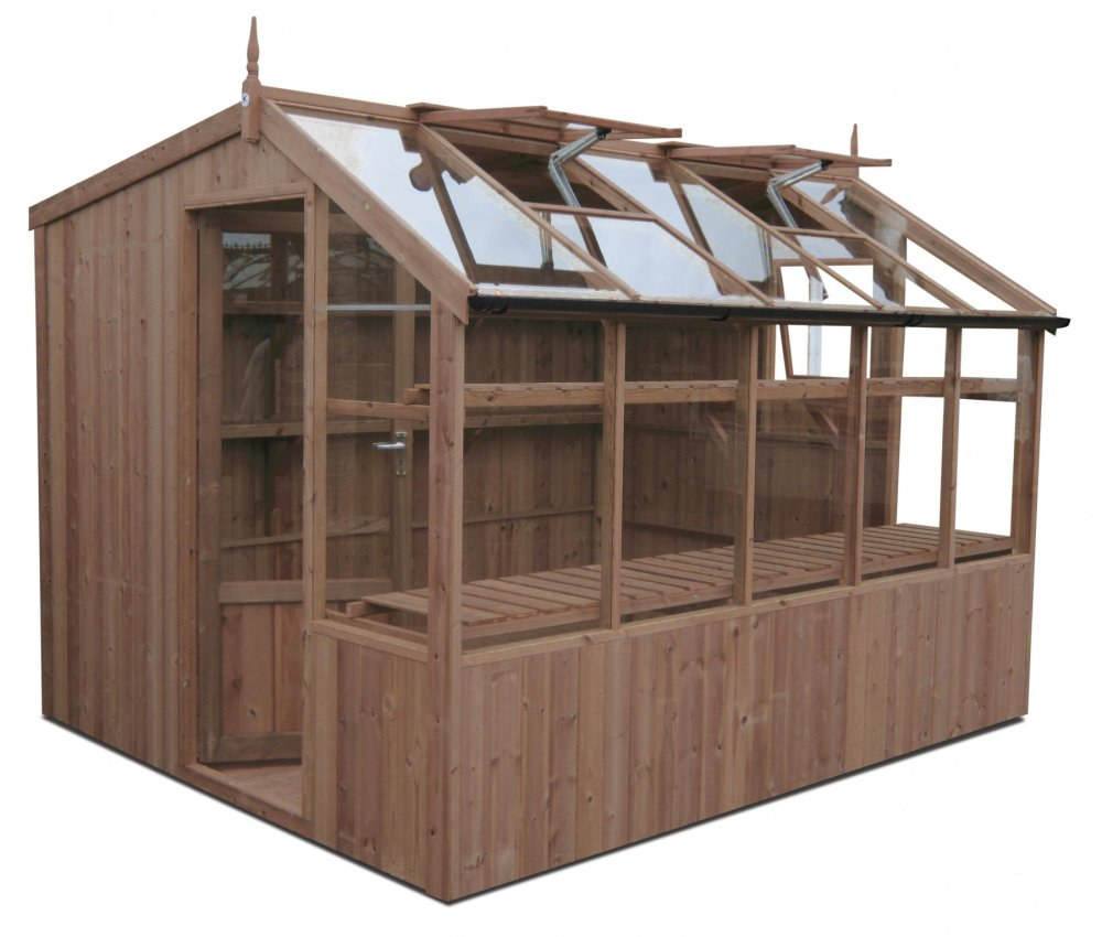 medium resolution of swallow rook thermowood greenhouse 8ft8 wide 2660mm x 12ft7 long 3840mm