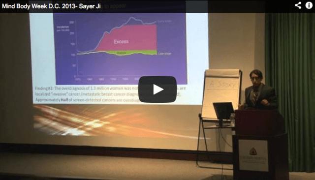Sayer Ji, Mind Body Week D.C., Cancer Lecture