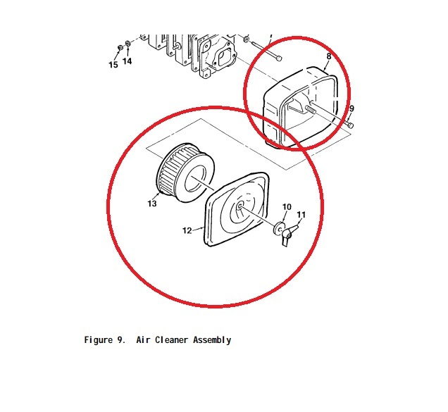 MEP016D Complete Air Cleaner Assembly with Element Yanmar
