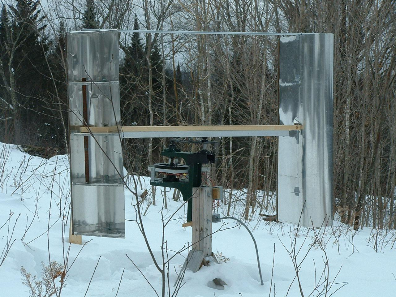 today i found out how to build a vertical axis wind turbine vawt and it works by the same principle those huge high powered wind turbines do  [ 1280 x 960 Pixel ]