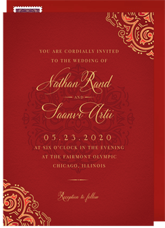 Indian Wedding Invitations Greenvelope Com