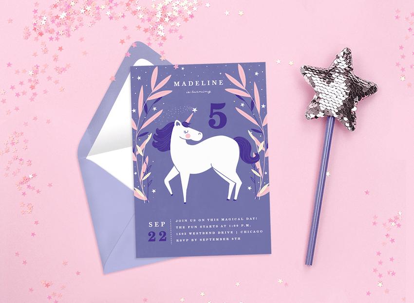 most adorable unicorn invitations