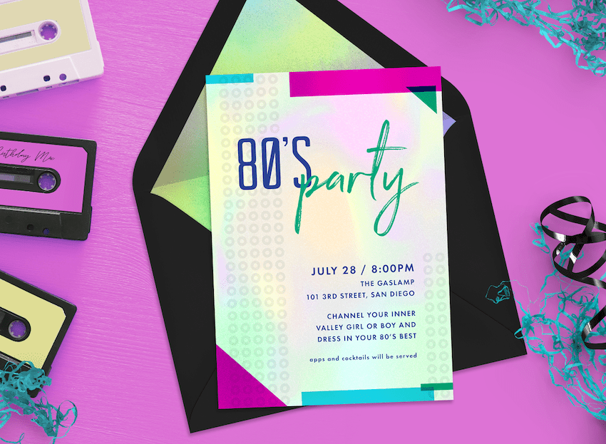 totally awesome 80s theme party