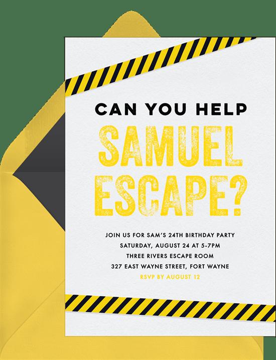escape room invitations greenvelope com