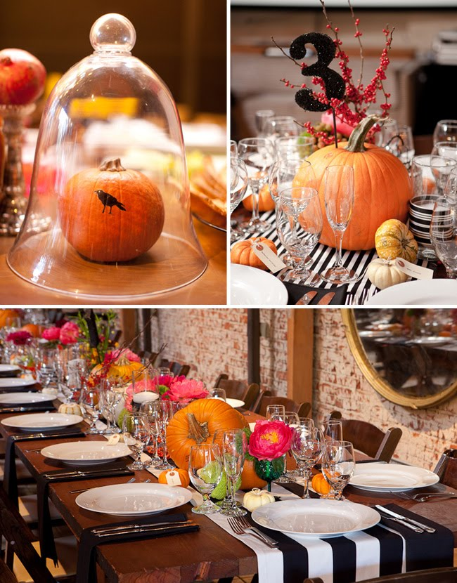 pumpkins as wedding decor halloween wedding