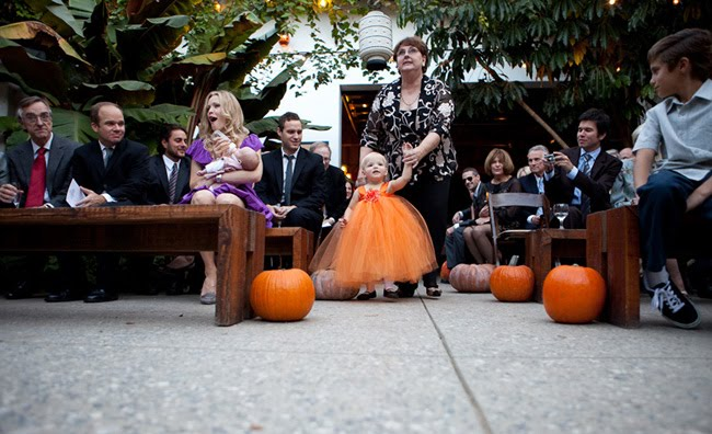 orange tutu flower girl