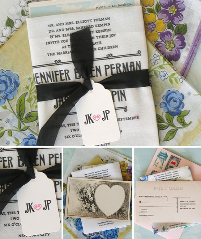 wedding napkin invite