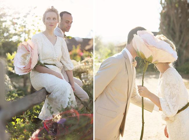 Whimsical Giant Flower Wedding: Brittany + Paul