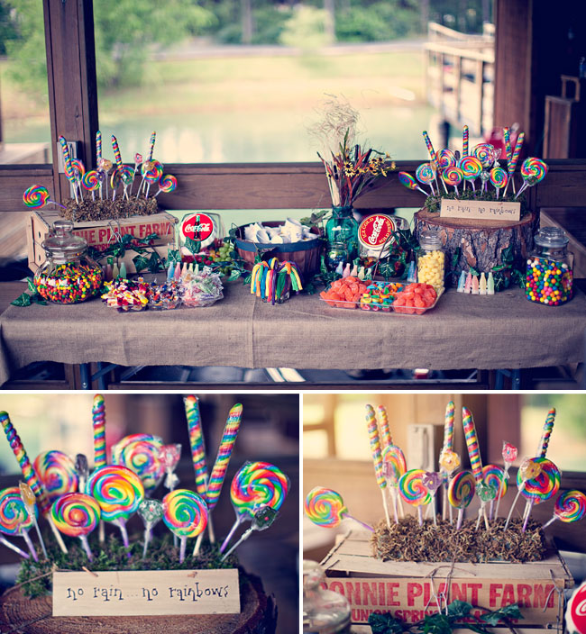 rainbow dessert table