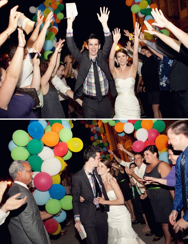 balloon wedding exit