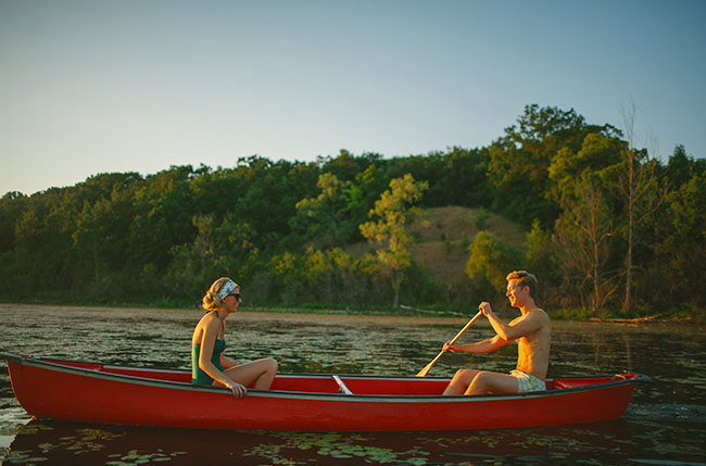 canoe camp wedding