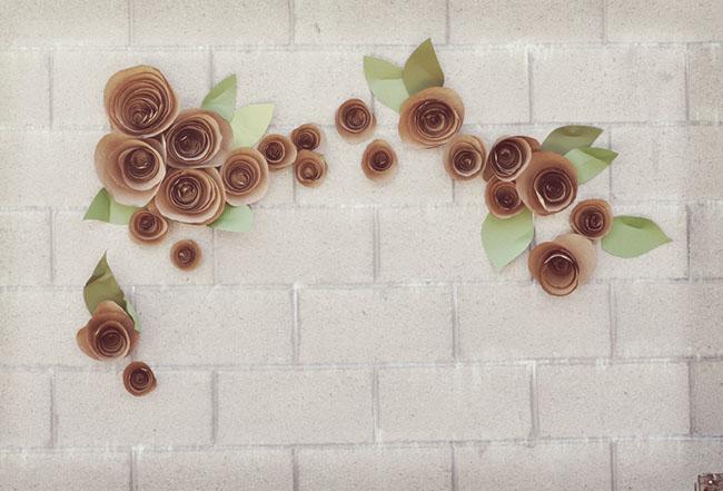 Telón de fondo de DIY flor de papel