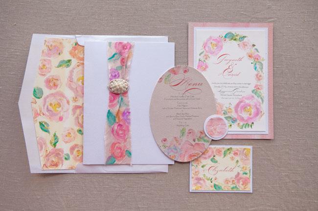 sistema de la invitación floral