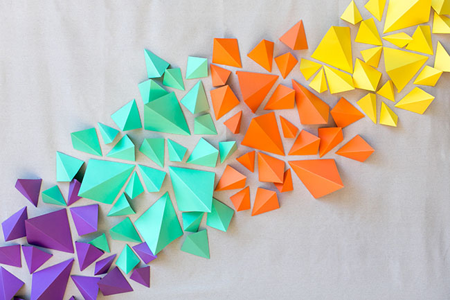 Geometric Backdrop DIY