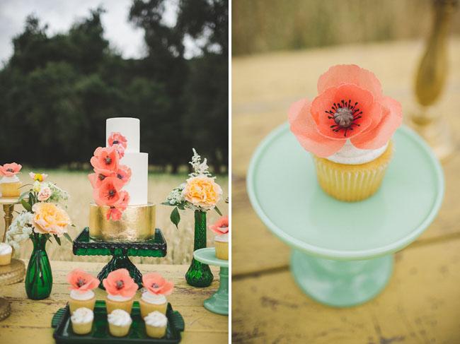 poppy cupcake topper