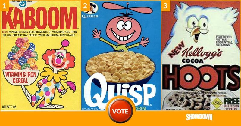 breakfast cereals from the