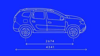 Dacia Duster 2019 afmetingen