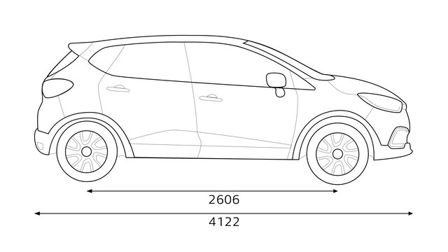 CAPTUR technical data sheet: boot volume and dimensions