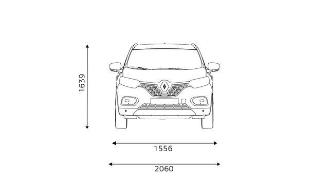KADJAR technische Daten: Kofferraumvolumen und Abmessungen